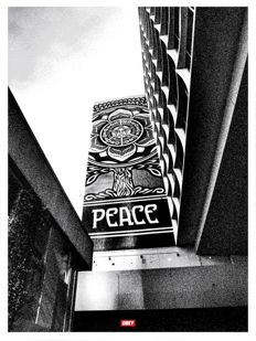Shepard Fairey (OBEY) - Covert to overt : Peace Tree silver edition