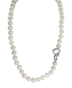 Freshwater Pearlnecklace Featuring a 925 Silver Heart, L 44cm