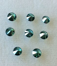 Lot of 8 natural diamonds ct. 1.08 No reserve price.