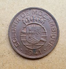 Mozambique / Portuguese Republic – 20 Centavos 1941 . Uncirculated