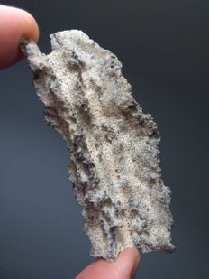 Fulgurite - Lightning strike - 7.5 cm! Unusual shape.