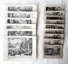 15 Religious prints by The Jellain family & from the Schut Bible by Pieter Hendriksz Schut  - Religious Story's - 16th/18th century