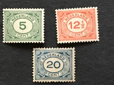 "The Netherlands 1921/1922 – Number, type ""Vürtheim"" – NVPH 107/109"