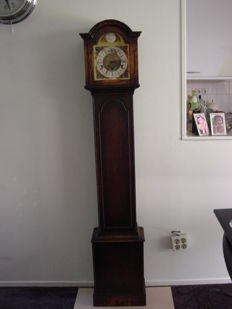 German grandfather clock - Oak cabinet with pearl rim - 2nd half of 20th century