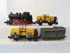 Minitrix/Fleischmann N - 2043/8845k/3250 - Tender locomotive Series BR89 with 3 wagons of the DRG