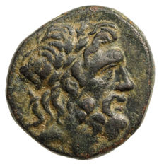Antique Greece - PONTOS - Amaseia? (85-65 BC) AE, Zeus, Eagle, Monograms