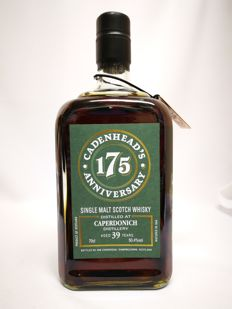 Caperdonich 1977 39 years old - closed distillery - Cadenhead's Single Malt Scotch Whisky 50.4% abv. -  175th Anniversary bottling of Cadenhead's.