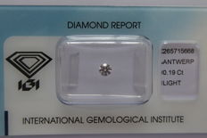 Natural Fancy Pink Diamond 0.19 ct with IGI cert *** no minimum price***