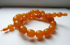Vintage Orange Butterscotch Baltic Amber necklace 92 gr