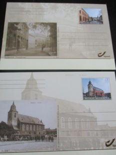 Belgium, collection with 321 modern  postcards
