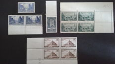France 1929/1938 - Selection of stamps - no. Yvert and Tellier: 259 – 260 type I – 261 – 261 type b and 394.