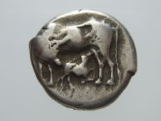 Greek Antiquity - Illiria, Corcyra, Ca. 433-360 BC, AR stater
