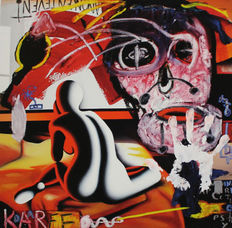 Mark Kostabi (+ Paul Kostabi) - Reflections in an orange eye