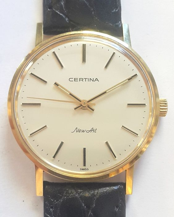 Certina New art Vintage classic 18 kt gold wrist watch - Switzerland ,1970s