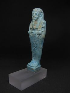 Nice Ancient Egyptian Faience Shabti - ca. 10,3 cm