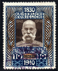 Austria 1910 - Birthday of Franz Joseph I - Unificato #135