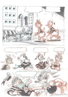 Vendetta, Z - Original Published Page - Daisy and Donald Duck
