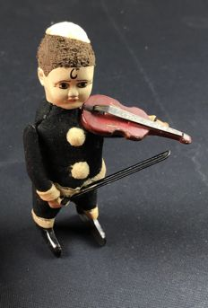 "Schuco, Germany - Height: 11 cm - ""Pierrot Violin Player"" 974/2, from the 30s"