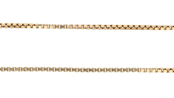 14 kt. Yellow gold Venetian link necklace – Length: 50.6 cm