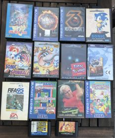 Lot  of 14 SEGA megadrive games.