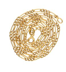 14 kt. Yellow gold figaro link necklace - length: 45.6 cm