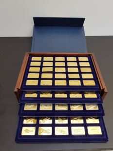 The Jane's Medallic Register of the World's Great Aircraft - 100 24kt Gold on solid Bronze Ingots
