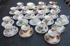 46 pieces of Royal Albert cups and saucers