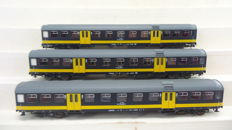 Roco H0 - 44292 - three Plan W2 carriages BeNeLux pull/push versions of the NS