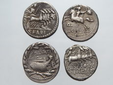 Roman Republic - Lot of 4 Denarii - silver