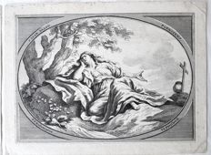 2 prints by Johann Justin Preißler (1698-1771) after P.P.Rubens (1577-1640) -  Ceiling Paintings from the North Gallery of the Jesuits' Church in Antwerp  - c.1708