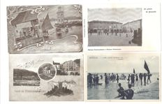 LOT OF 100 SMALL FORMAT POSTCARDS, ITALIAN LOCALITIES.