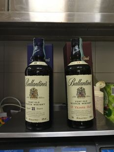 2 Bottles - Ballantine's 21 years old and 17 years old