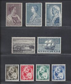 The Netherlands 1934 – Complete year – NVPH 265/266, 267/268, 269 and 270/273