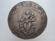 Republic of Genoa, 1704 — Double Scudo coin — Silver