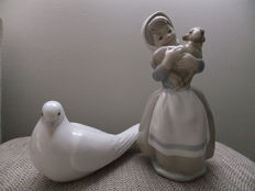 Pair of porcelain figures Nao and Lladro