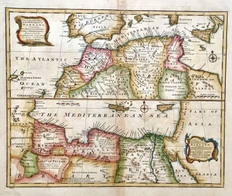 Accurate Map Of Africa.North Africa Emmanuel Bowen A New Accurate Map Of The Western