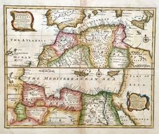 North Africa; Emmanuel Bowen - A New & Accurate Map of the Western/Eastern parts of Barbary Containing Fez, Morocco, Algiers, Tripoli (..) - 1744