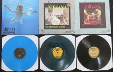 Nirvana - Great lot of 3LP's including 1 limited edition and 2x coloured vinyl: Nevermind / The Demotapes Volume 1&2