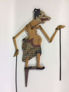 Rare wayang kelitik sculpture made of wood – Java – Indonesia