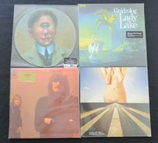King Crimson / Gnidrolog / Soft Machine / Seven That Spells: Great lot of 4LP's including 1 Picture Disk + 1 limited edition on Transparant vinyl