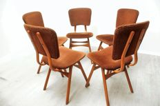 Producer unknown - Set of 4 vintage dining chairs