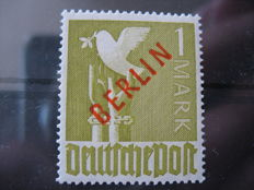 Berlin 1949 red overprint 1 and 2 DM Michel Number 33 and 34