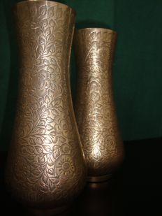 Unknown producer - pair of brass jars