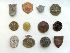 Third Reich: 12 Different Badges