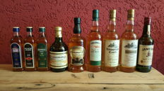 9 bottles - various Irish Whiskeys