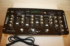 Mixer with a USB MP3 player on each side