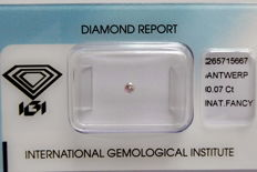 Natural Fancy Light Brownish Pink Diamond 0.07 ct  with IGI cert *** no minimum price***