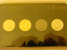 "Latvia - 2 Euro 2014 ""Precious Metal Set"" (4 plated coins)"