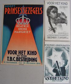 The Netherlands 1933/1946 – Three children's stamp posters