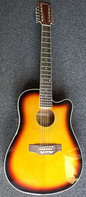 New ChS 12-string electro-acoustic guitar, sunburst
